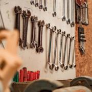 image of organized garage wall