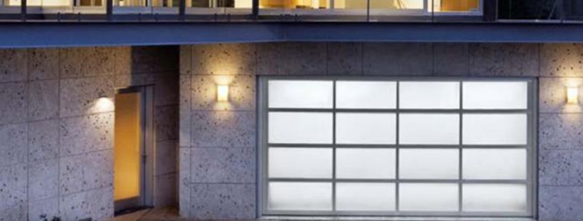 image of full view aluminum garage door